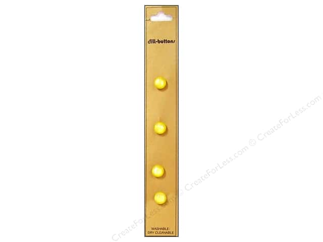Dill Shank Buttons 5/16 in. Yellow 4pc.