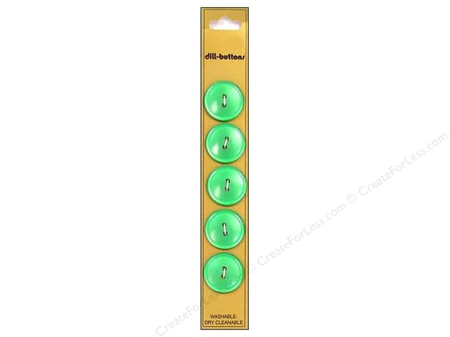 Dill 2 Hole Buttons 3/4 in. Green 5pc.