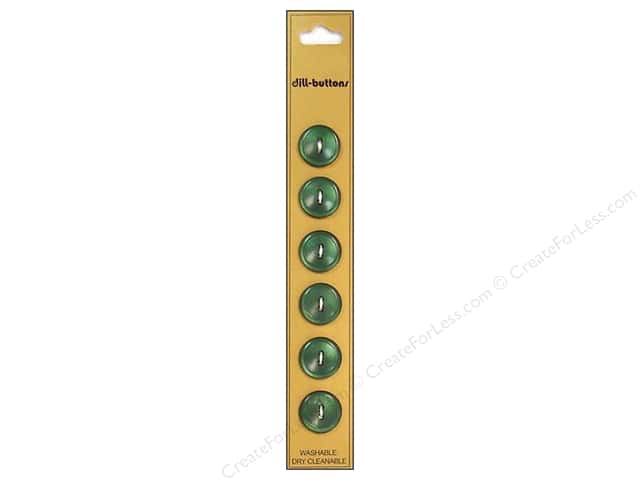 Dill 2 Hole Buttons 9/16 in. Olive Green 6pc