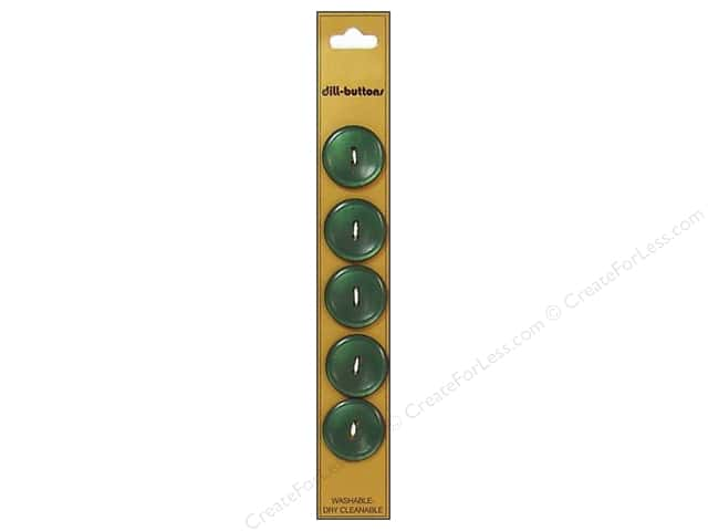 Dill 2 Hole Buttons 3/4 in. Olive Green 5pc