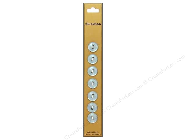 Dill 2 Hole Buttons 7/16 in. Light Blue 7pc