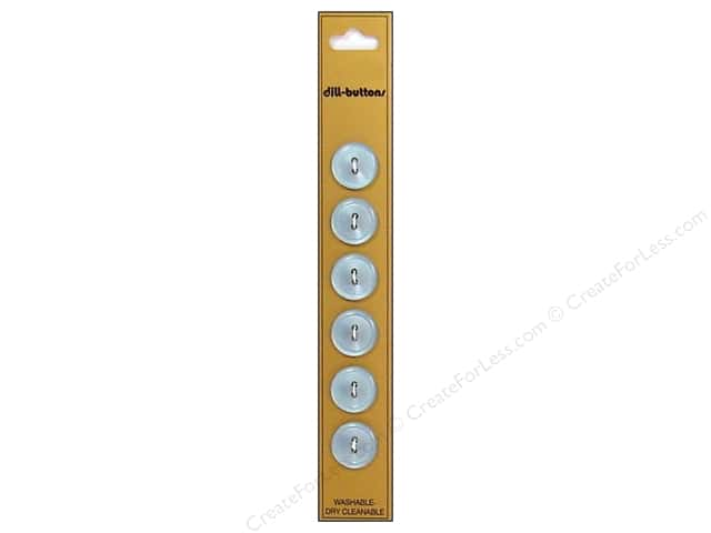 Dill 2 Hole Buttons 9/16 in. Light Blue 6pc