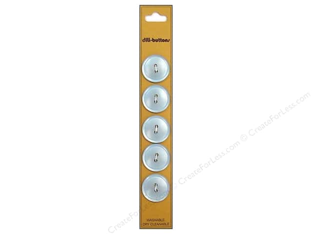 Dill 2 Hole Buttons 3/4 in. Light Blue 5pc