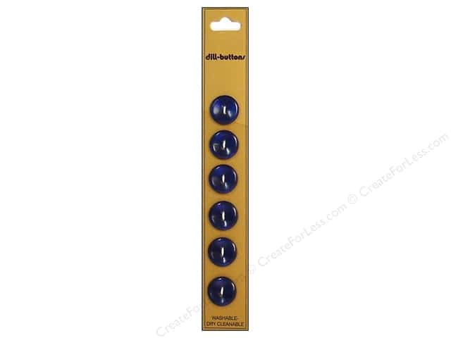 Dill 2 Hole Buttons 9/16 in. Royal Blue 6pc