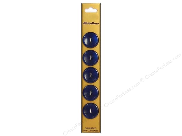 Dill 2 Hole Buttons 3/4 in. Royal Blue 5pc.