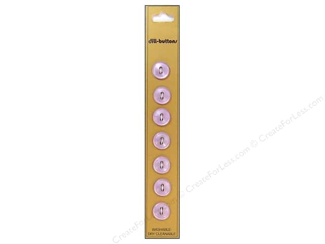 Dill 2 Hole Buttons 7/16 in. Lilac 7pc