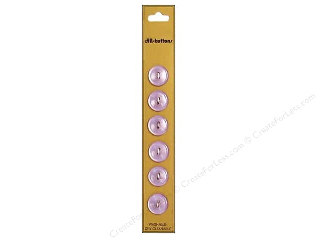 Dill 2 Hole Buttons 9/16 in. Lilac 6pc