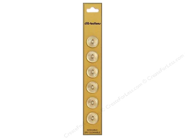 Dill 2 Hole Buttons 9/16 in. Beige 6pc
