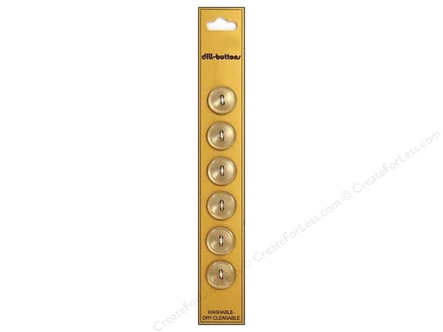 Dill 2 Hole Buttons 9/16 in. Tan 6pc