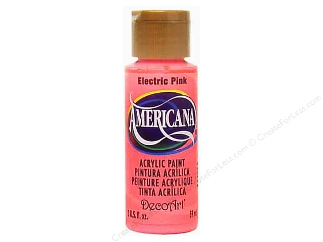 DecoArt Americana Acrylic Paint 2 oz. #231 Electric Pink