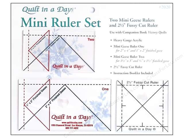 Quilt In A Day Ruler Set Mini Geese