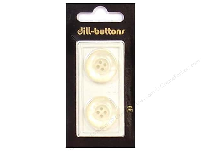 Dill 4 Hole Buttons 13/16 in. White #39 2pc.