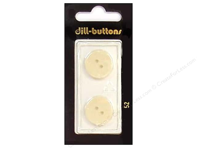 Dill 2 Hole Buttons 11/16 in. White #52 2pc.