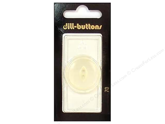 Dill 2 Hole Buttons 1 1/8 in. White #70 1pc.