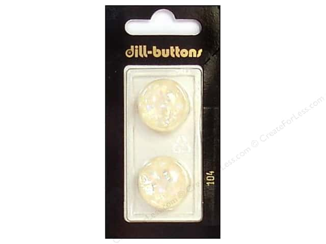 Dill Shank Buttons 13/16 in. White #104 2pc.