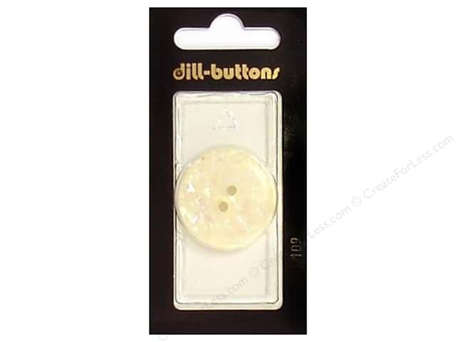 Dill 2 Hole Buttons 1 1/8 in. White #109 1pc.