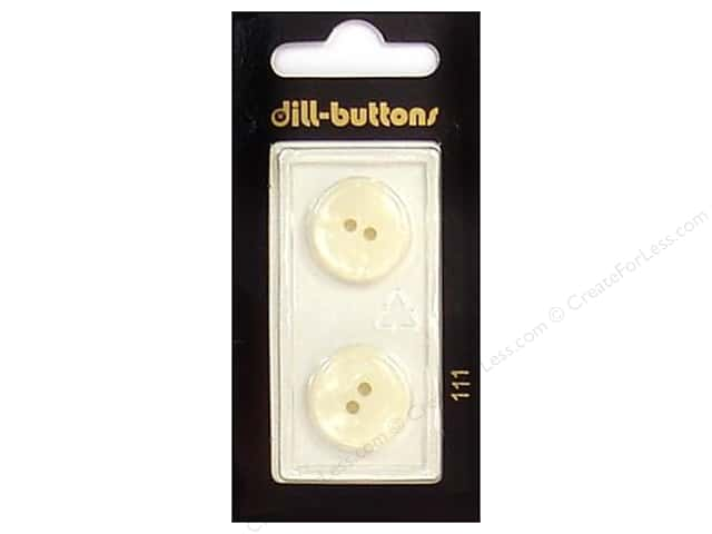 Dill 2 Hole Buttons 11/16 in. White #111 2 pc.
