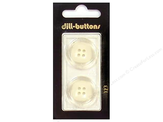 Dill 4 Hole Buttons 7/8 in. Transparent/White #123 2pc.