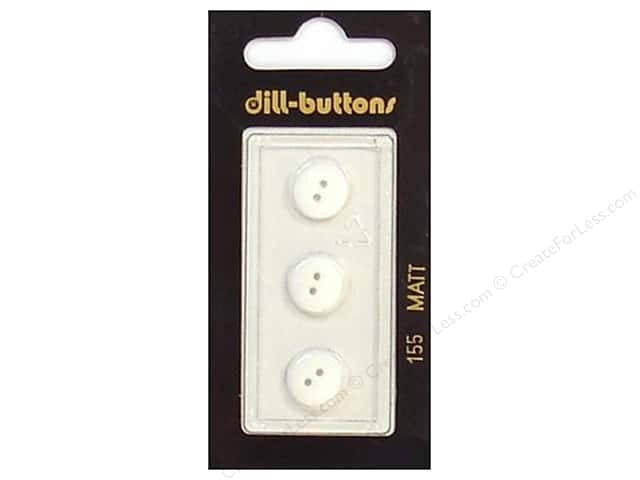 Dill 2 Hole Buttons 7/16 in. White #155 3pc.