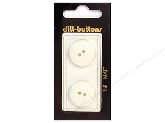 Dill 2 Hole Buttons 13/16 in. White #158 2pc.