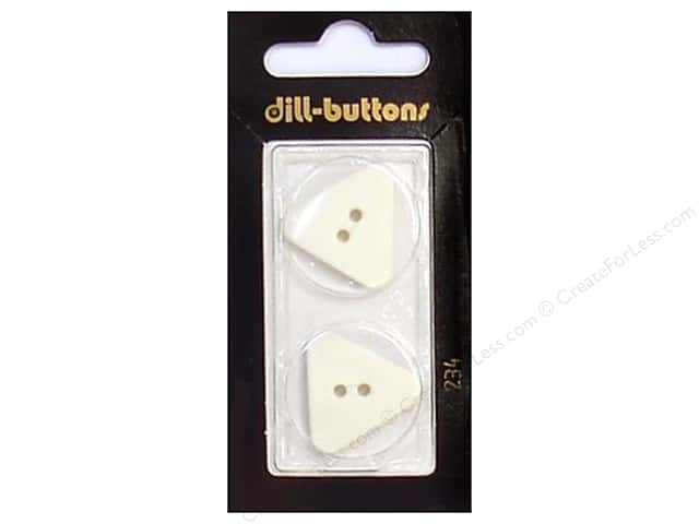 Dill 2 Hole Buttons 7/8 in. White #234 2 pc.