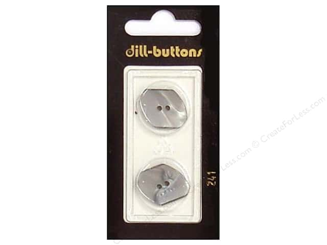 Dill 2 Hole Buttons 13/16 in. Grey #241 2 pc.