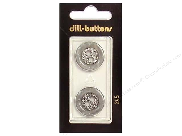 Dill 2 Hole Buttons 13/16 in. Grey #245 2pc.