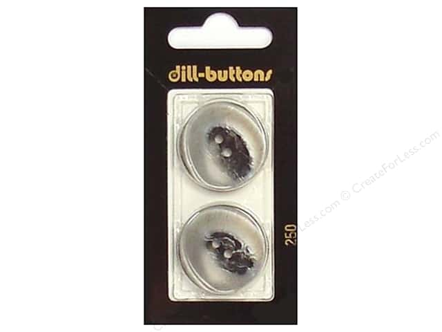 Dill 2 Hole Buttons 1 in. Grey #250 2 pc.