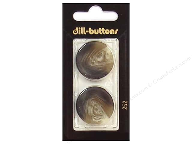 Dill 4 Hole Buttons 1 in. Brown #252 2pc.