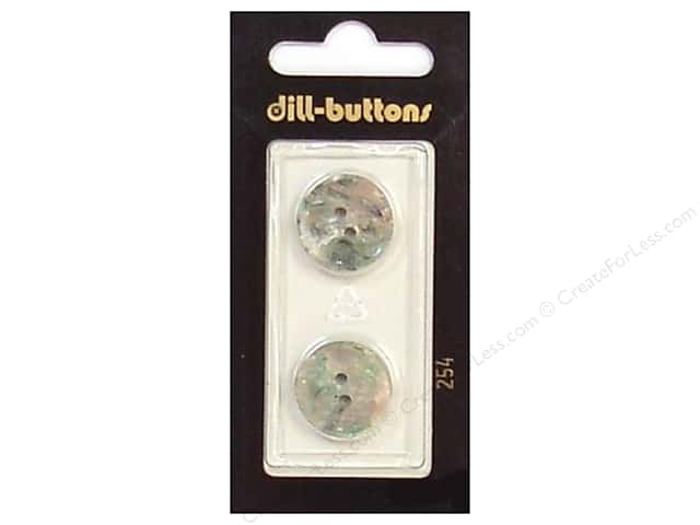 Dill 2 Hole Buttons 11/16 in. Grey #254 2 pc.