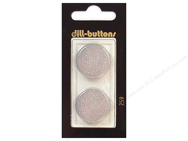 Dill Shank Buttons 7/8 in. Light Grey #259 2pc.