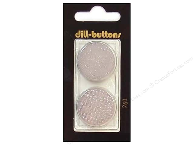 Dill Shank Buttons 1in. Light Grey #260 2pc.