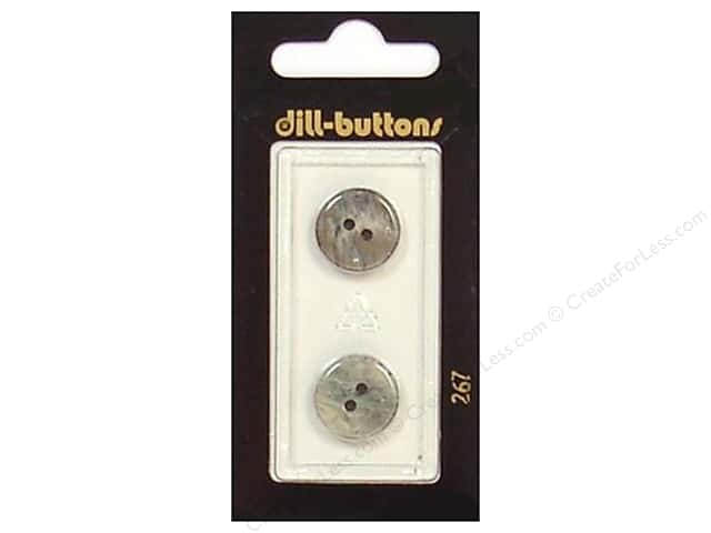 Dill 2 Hole Buttons 5/8 in. Grey #267 2 pc.