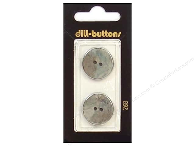 Dill 2 Hole Buttons 13/16 in. Grey #268 2 pc.