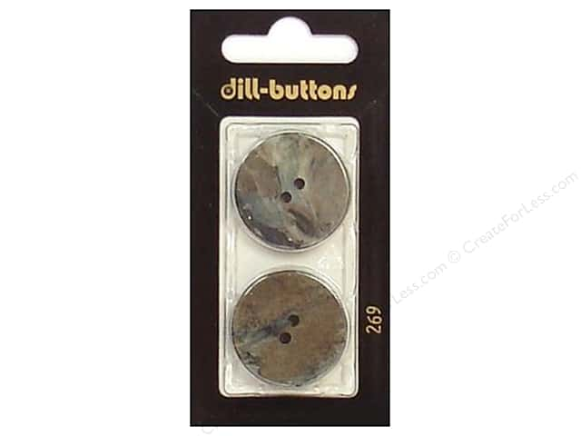 Dill 2 Hole Buttons 1 in. Grey #269 2 pc.