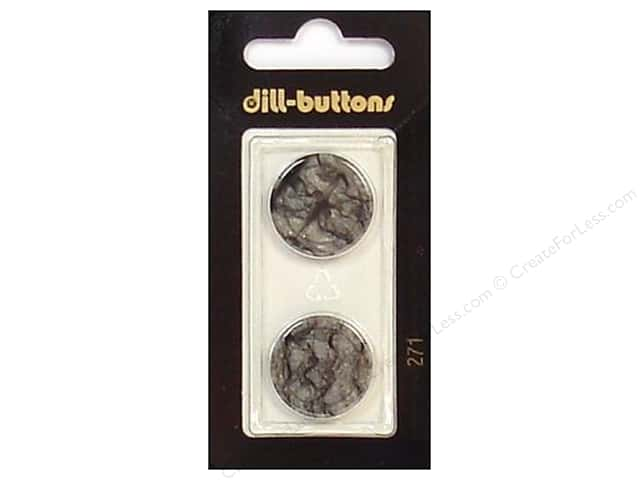 Dill 2 Hole Buttons 13/16 in. Grey #271 2pc.