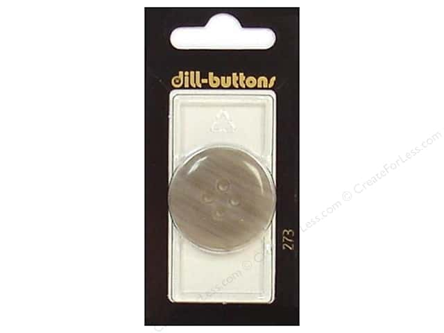 Dill 4 Hole Buttons 1 1/4 in. Grey #273 1pc.