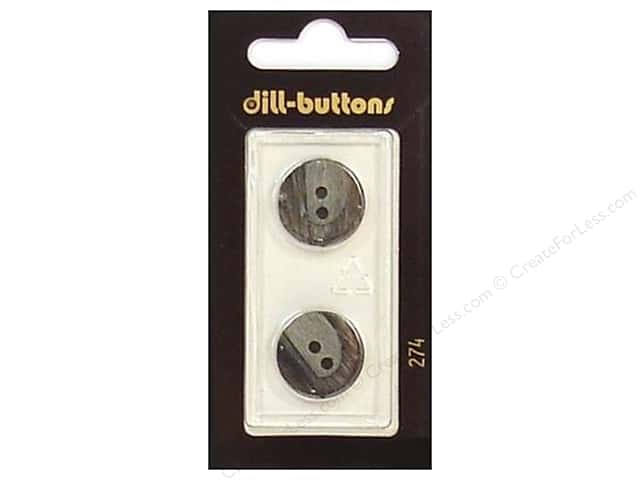Dill 4 Hole Buttons 11/16 in. Grey #274 2pc.