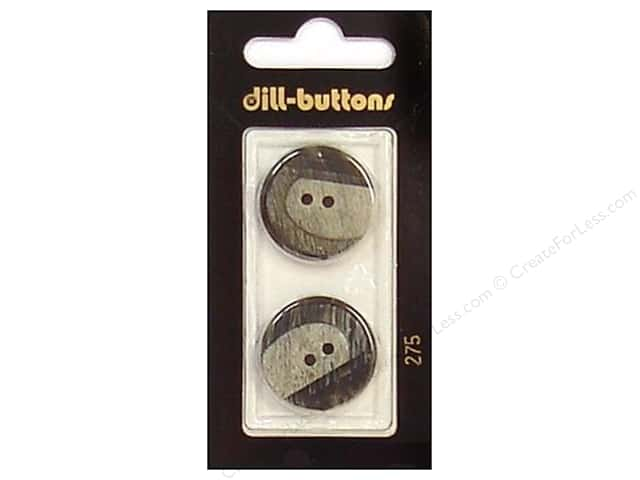 Dill 2 Hole Buttons 7/8 in. Grey #275 2pc.