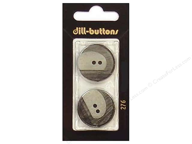 Dill 2 Hole Buttons 1 in. Grey #276 2 pc.