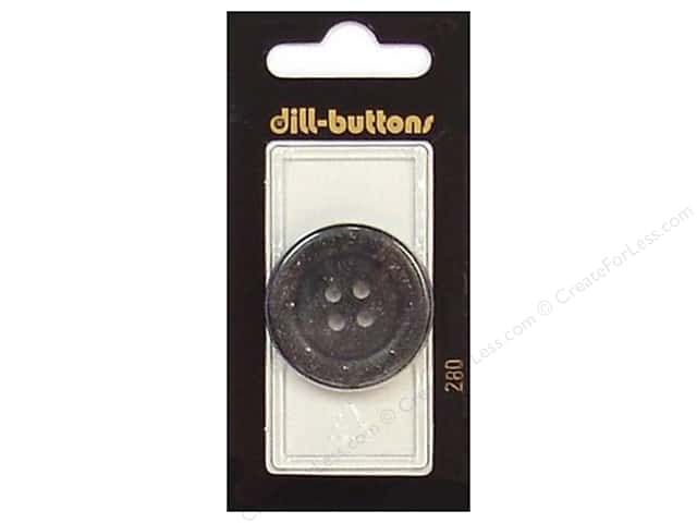 Dill 4 Hole Buttons 1 1/4 in. Grey #280 1pc.