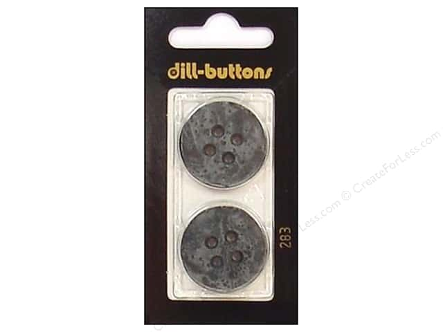Dill 4 Hole Buttons 1 in. Grey #283 2pc.