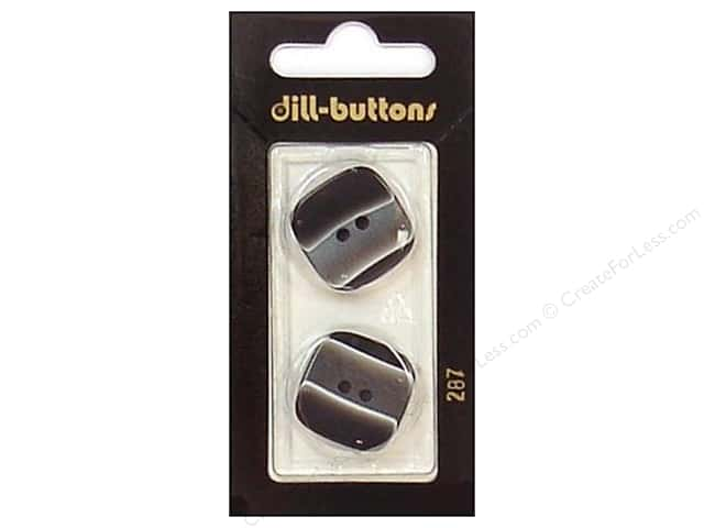 Dill 2 Hole Buttons 7/8 in. Black #287 2pc.