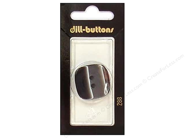Dill 2 Hole Buttons 1 1/8 in. Black #288 1pc.