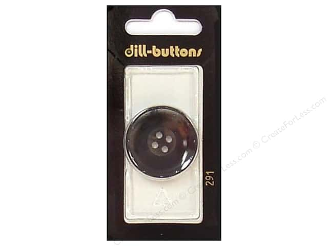Dill 4 Hole Buttons 1 1/8 in. Grey #291 1pc.