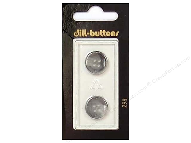Dill 4 Hole Buttons 5/8 in. Grey #298 2pc.
