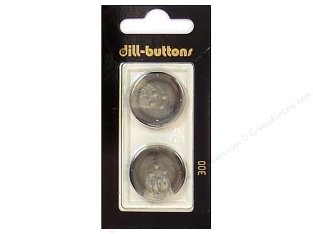 Dill 4 Hole Buttons 7/8 in. Grey #300 2pc.