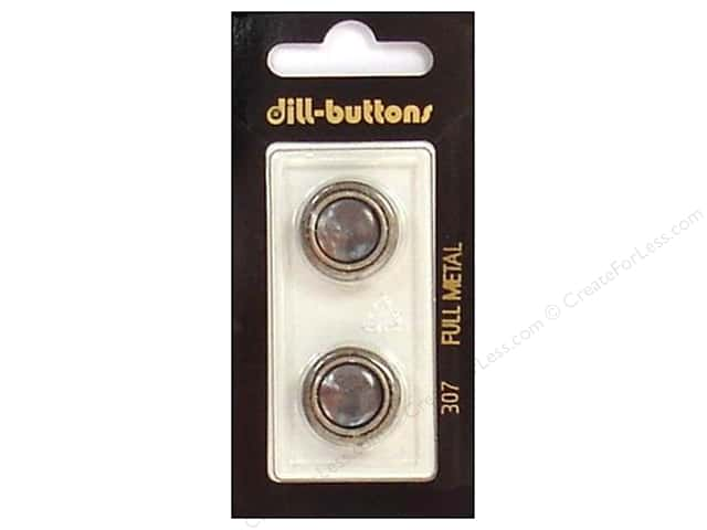Dill Shank Buttons 11/16 in. Grey/Silver Metal #307 2pc.