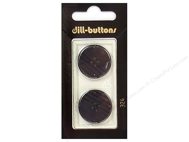 Dill 4 Hole Buttons 7/8 in. Black #324 2pc.