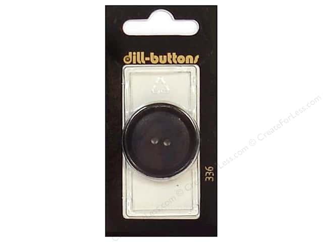 Dill 2 Hole Buttons 1 1/4 in. Black #336 1pc.